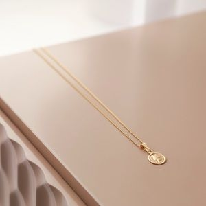 Petite Goddess Coin Necklace | 18kt Gold Filled